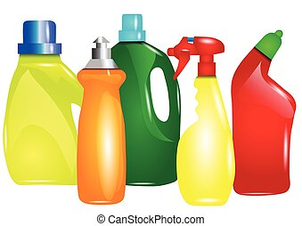 cleaning clipart clip silhouette bottles illustrations bottle multicolor drawings spray abstract detergent clipground graphic illustration vector canstockphoto arkela