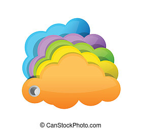 multicolor clouds