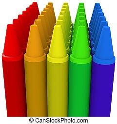 Multicolor crayon image 1 - 3d computer generated