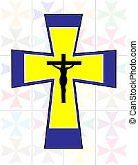 Multicolor Cross with Black Jesus Cross on The Transoarency ...