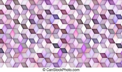 Multicolor Cube Shape Gradient Motion Loop