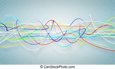 Multicolor curvy strokes loopable background - Multicolor...