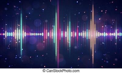 multicolor digital equalizer loop