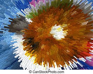 multicolor, explosión