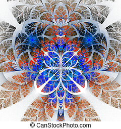 Multicolor fabulous fractal pattern. Collectiont - tree foliage.