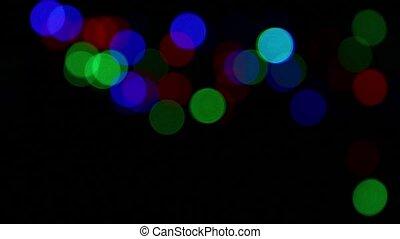 Multicolor festive lights bokeh background - Colorful...