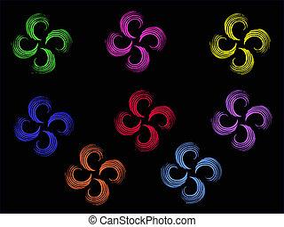 multicolor, fiori, astratto
