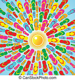 Multicolor Flip flops summer splash