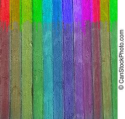 multicolor, forma, pared de madera, plano de fondo, original