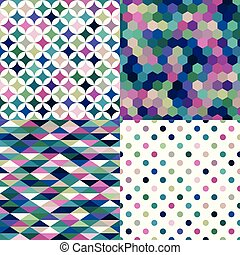 multicolor geometric pattern
