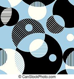 Multicolor geometric vector seamless pattern