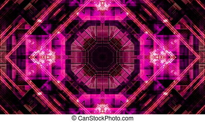 Multicolor Geometric VJ Loop