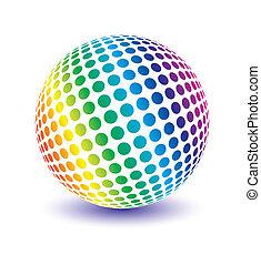 multicolor, globo, vector.