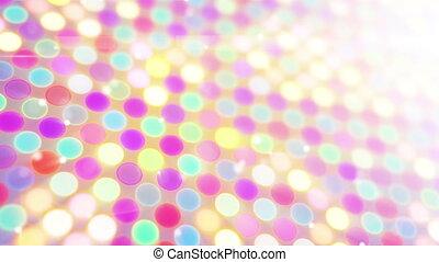 multicolor glowing circles loop