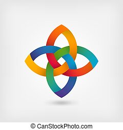 multicolor gradient abstract intertwining symbol