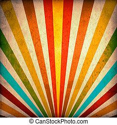 multicolor, grunge, rayos de sol, plano de fondo