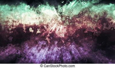 Multicolor Grunge Waves Loop