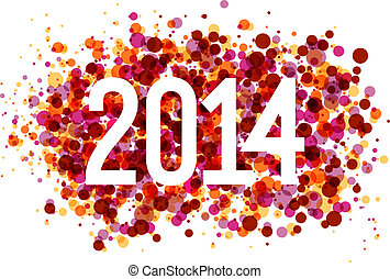 Multicolor Happy New Year 2014 background