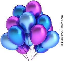 Multicolor helium balloons
