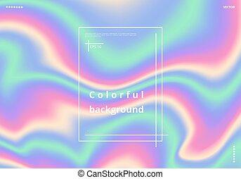 multicolor, holographic, fondo