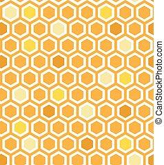 Multicolor Honeycomb Pattern - Retro seamless multicolor...