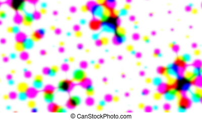 Multicolor iridescent retro closeup halftone effect -...
