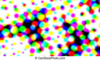 Multicolor iridescent retro closeup halftone effect -...