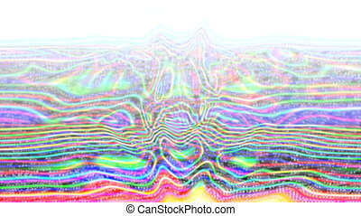 Multicolor iridescent ripple abstract surface for text, title, caption
