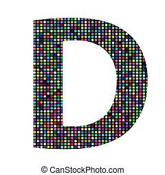 multicolor letter - colorful illustration with multicolor...