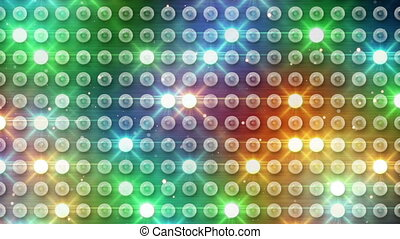 multicolor lighting bulbs. computer generated seamless loop abstract motion background. HD 1080p
