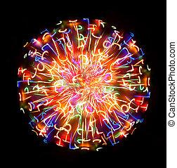 multicolor, luz, esfera