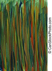 multicolor, mano, pintado, resumen, acuarela, plano de fondo