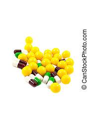 multicolor, medicina, píldoras