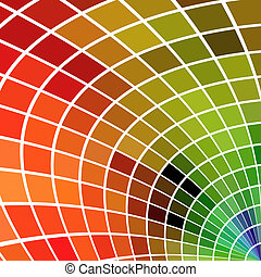Multicolor mosaic square background. No gradients or effects.