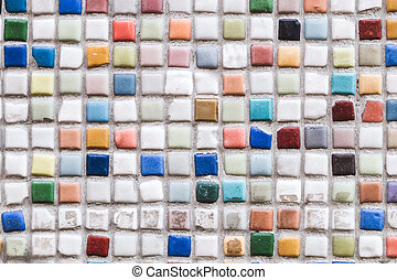 Multicolor mosaic texture, wall, floor tile