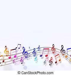 multicolor, notas música