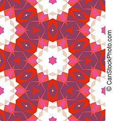 multicolor, padrão geométrico, em, luminoso, color.
