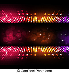 Multicolor Party Background - multicolor music equlizer...