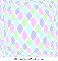 Multicolor pattern in pale colors in spherical shape. Vector art.
