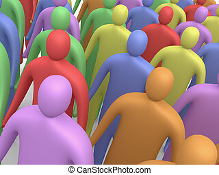 Multicolor People #3