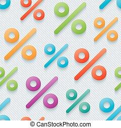Multicolor percent symbols wallpaper.