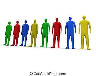 multicolor, pessoas, #1