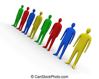 multicolor, pessoas, #2