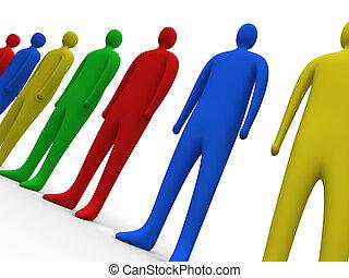 multicolor, pessoas, #3