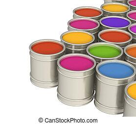 multicolor, pinturas