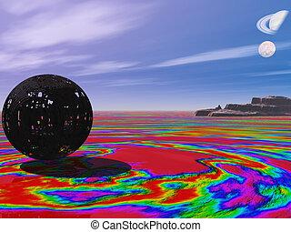 Multicolor plante - multicolor planet