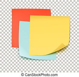 Multicolor post it notes