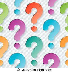 Multicolor question marks wallpaper.