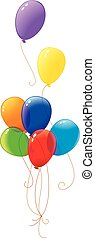 Multicolor rainbow balloons - Illustration of multicolor air...