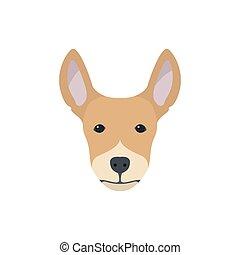 Multicolor simple dog head